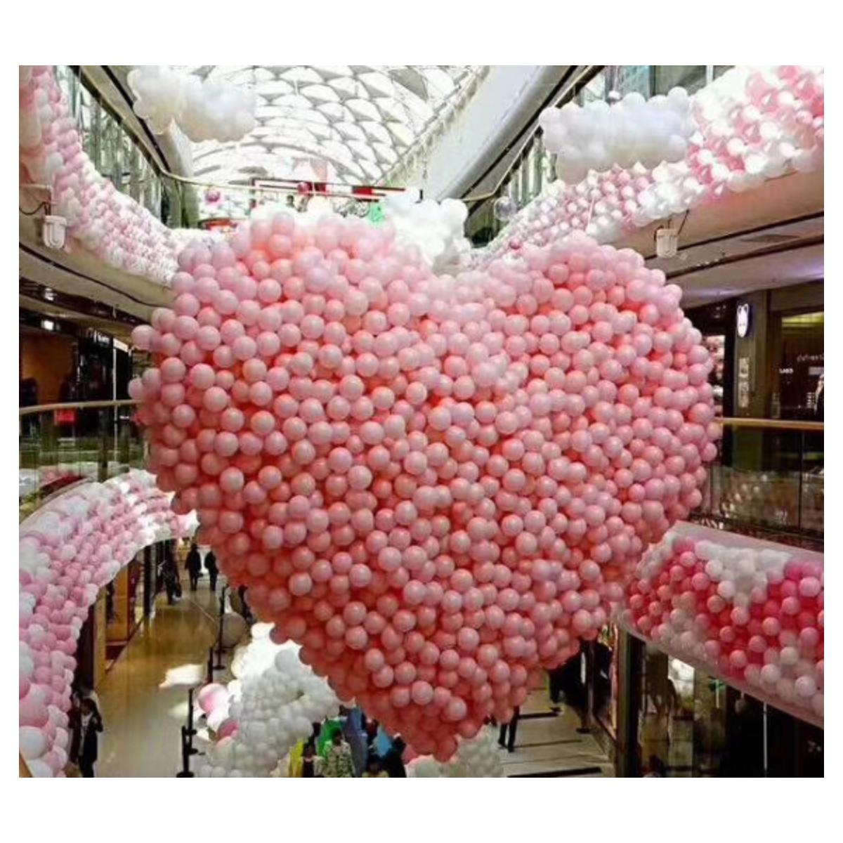Rete rilascio a forma di cuore 3mt per 500 palloncini