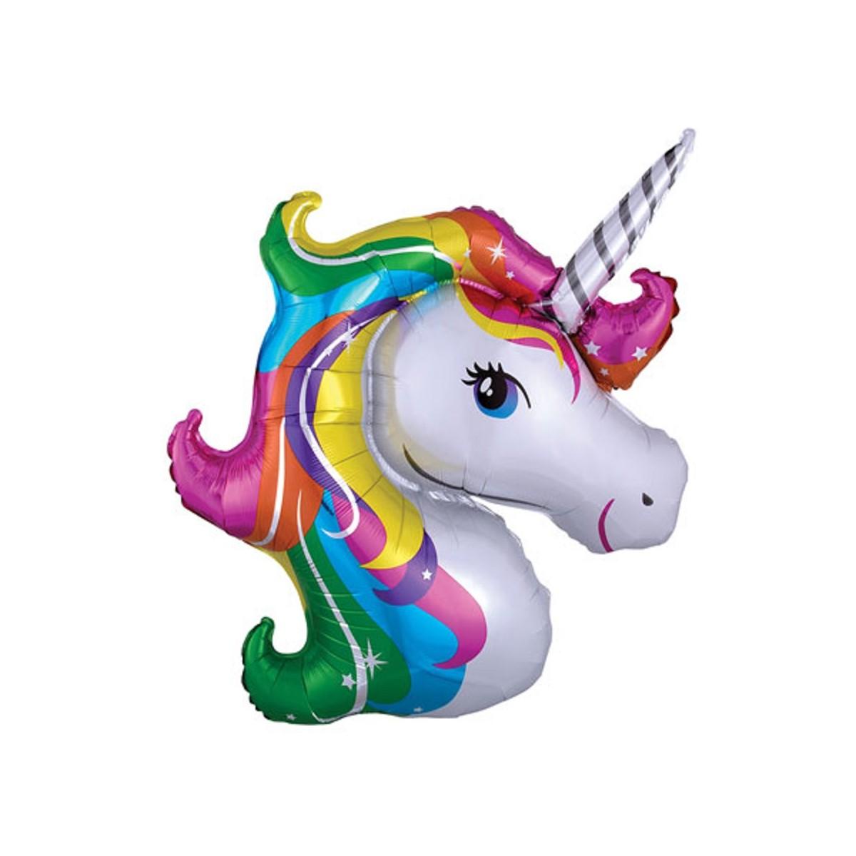 "Shape 18""/45cm testa Unicorno Rainbow"