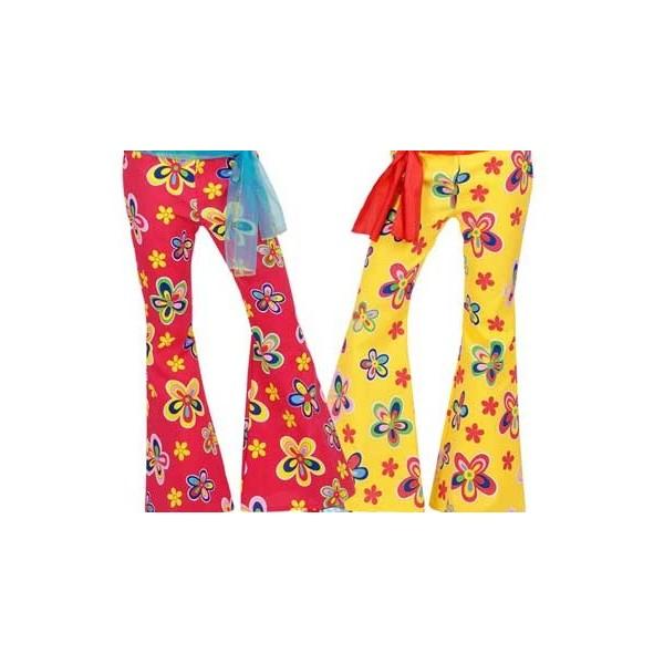 pantalone a zampa con fiori