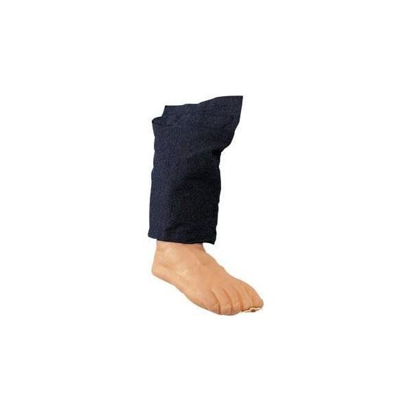 piede finto in gomma con pantalone