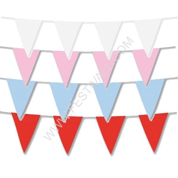 Festone bandiera monocolore 10MT.