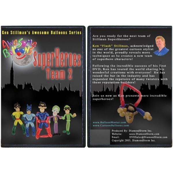 "Dvd palloncini \"" SuperHeroes Team 2 \"""