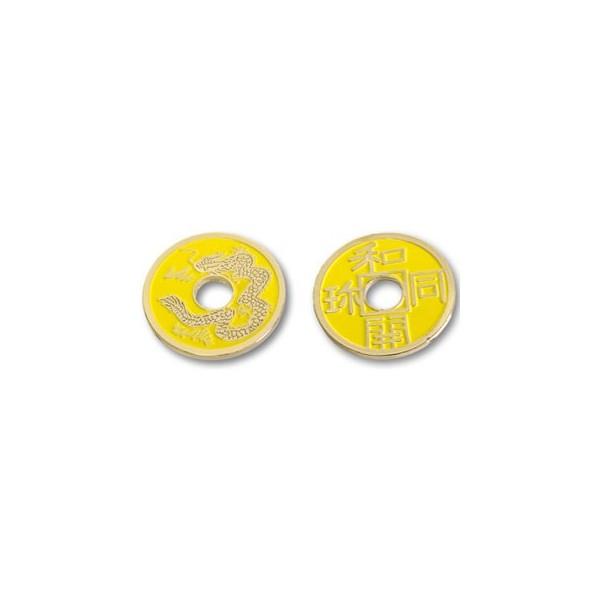 Moneta Cinese mezzo Dollaro gialla