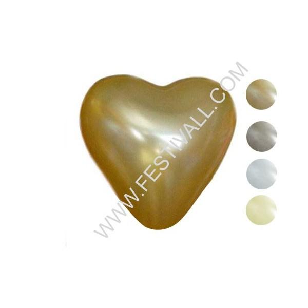 """Palloncino cuore piccolo 5""""/12 cm monocolore metal 100 pz"""