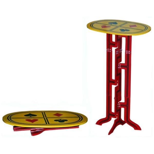 tavolino istantaneo in legno e metallo
