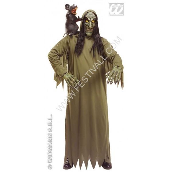 costume strega con maschera