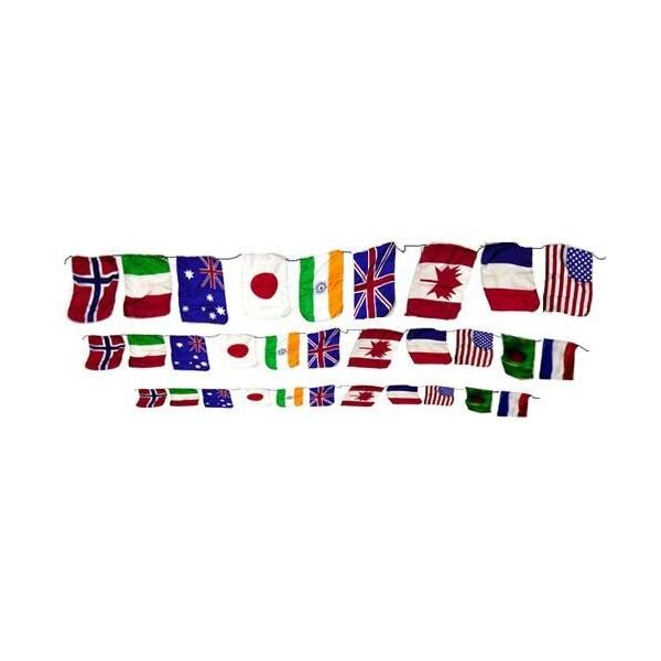 Catena di bandiere piccole 1mt