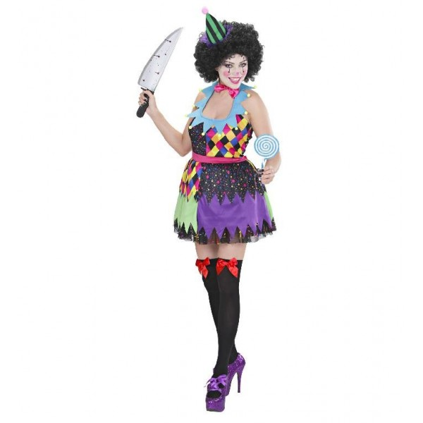 Costume lady horror clown