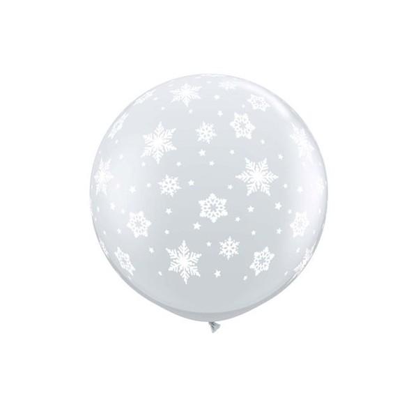 Palloncino mongolfiera 3'/100 cm fiocco di neve