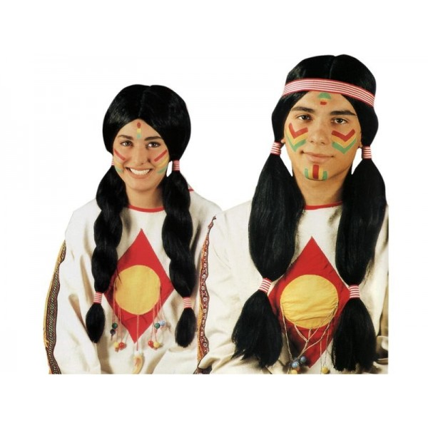 parrucca indiano deluxe unisex