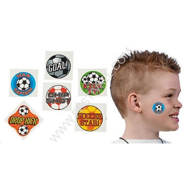 Confezione 72 Tatuaggi Calcio