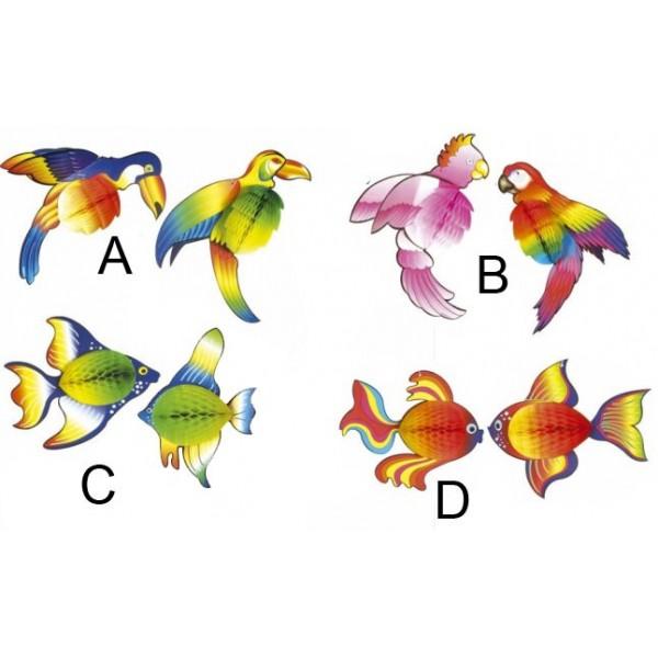 Set da 2 animali tropicali