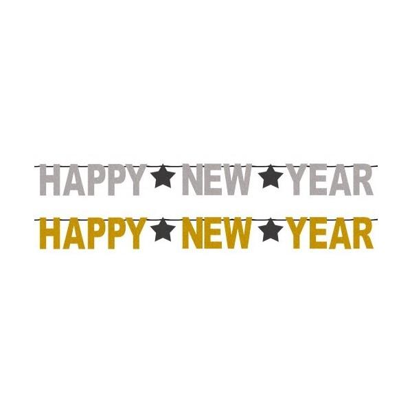 Festone happy new year glitter