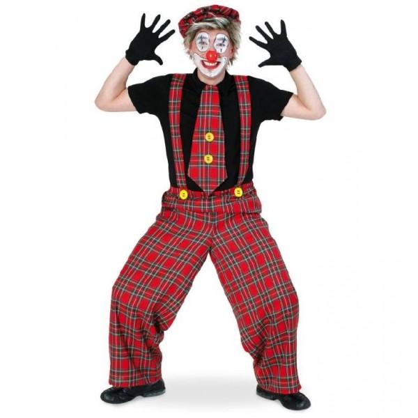 salopetta clown kalle con Maxi cravatta
