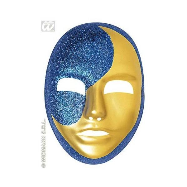 Maschera bicolore luna